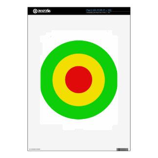 Rasta Target iPad 2 Decals