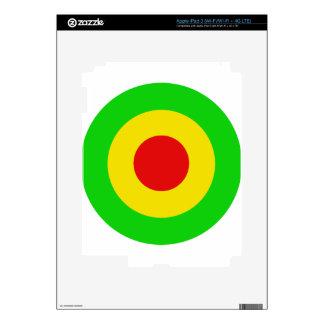 Rasta Target iPad 3 Decals