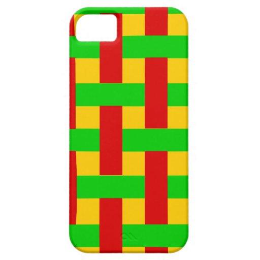 Rasta tejido iPhone 5 fundas
