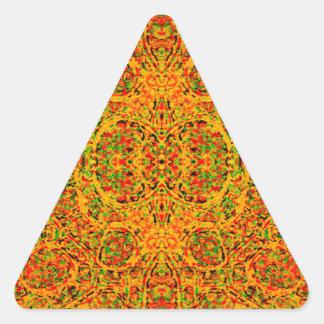 Rasta Trance Triangle Sticker