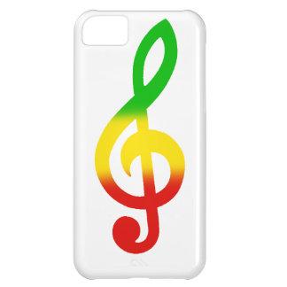 Rasta Treble Clef Case For iPhone 5C
