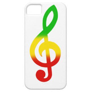 Rasta Treble Clef iPhone SE/5/5s Case