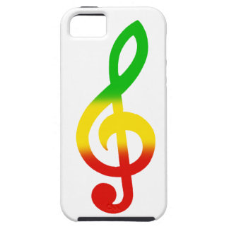 Rasta Treble Clef iPhone SE/5/5s Case