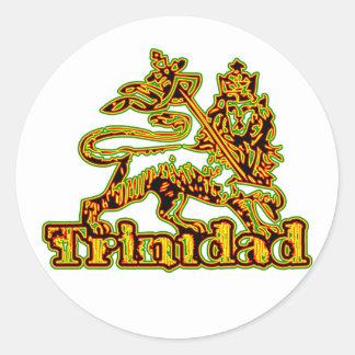 Rasta Trinidad Etiqueta Redonda