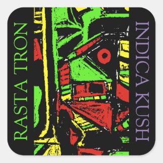 RASTA TRON INDICA KUSH SQUARE STICKER