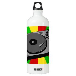 Rasta Turntable Aluminum Water Bottle