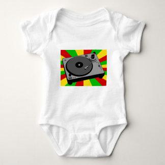 Rasta Turntable Baby Bodysuit