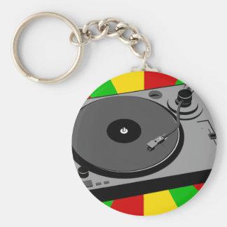 Rasta Turntable Basic Round Button Keychain