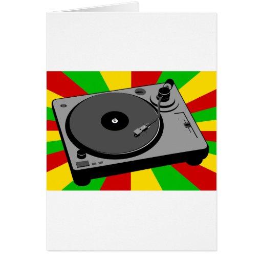Rasta Turntable Card
