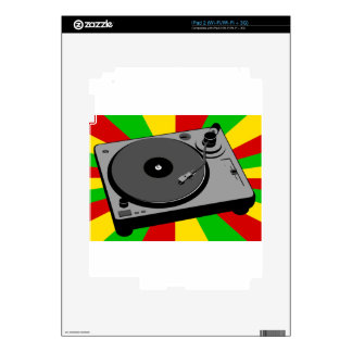 Rasta Turntable Decals For The iPad 2