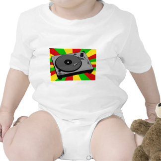Rasta Turntable Baby Bodysuits