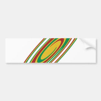 Rasta Twirl Bumper Sticker