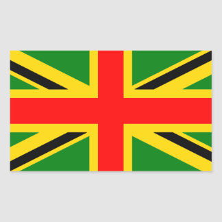 Rasta Union Jack Rectangular Sticker