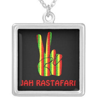 Rasta Victory Sign Necklace
