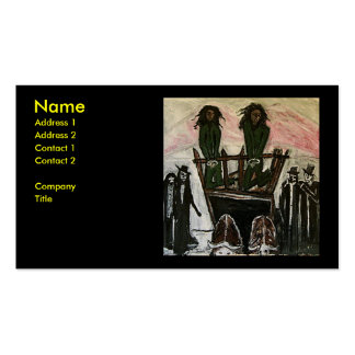 RASTA WITCH TRIALS Double-Sided STANDARD BUSINESS CARDS (Pack OF 100)