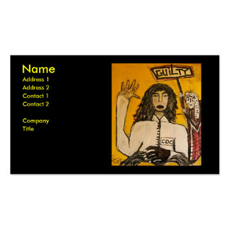 RASTA WITCH TRIALS GUILTY Double-Sided STANDARD BUSINESS CARDS (Pack OF 100)