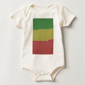 Rasta Wood Grain Baby Bodysuit