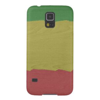 Rasta Wood Grain Galaxy S5 Cases