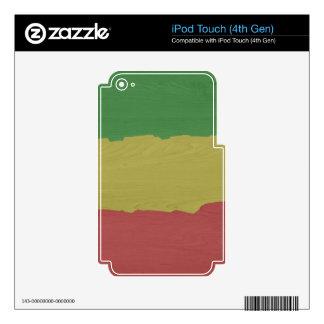 Rasta Wood Grain iPod Touch 4G Skins