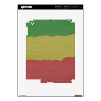 Rasta Wood Grain Skins For iPad 3