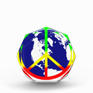 Rasta World Peace Acrylic Award