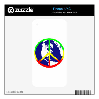 Rasta World Peace Decals For iPhone 4S