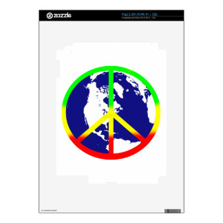 Rasta World Peace Decals For The iPad 2