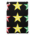 Rasta y estrellas del negro iPad mini protectores