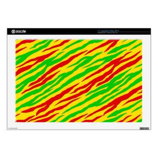 """Rasta Zebra Stripes 17"""" Laptop Skins"""