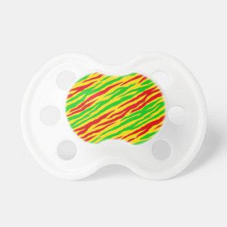 Rasta Zebra Stripes BooginHead Pacifier