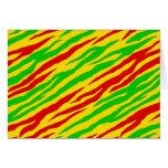 Rasta Zebra Stripes Card