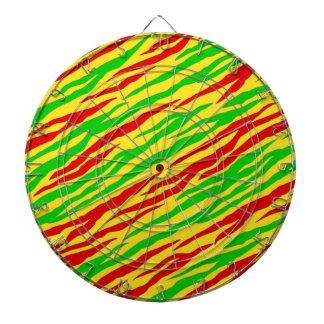 Rasta Zebra Stripes Dartboard With Darts