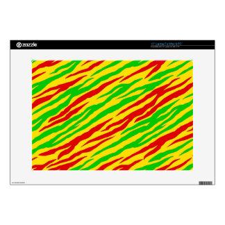 """Rasta Zebra Stripes Skin For 15"""" Laptop"""