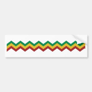 Rasta Zig Zags. Bumper Sticker