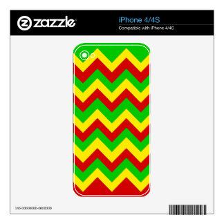 Rasta Zig Zags. iPhone 4 Decal