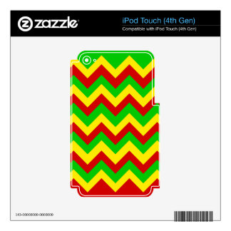 Rasta Zig Zags. Skins For iPod Touch 4G