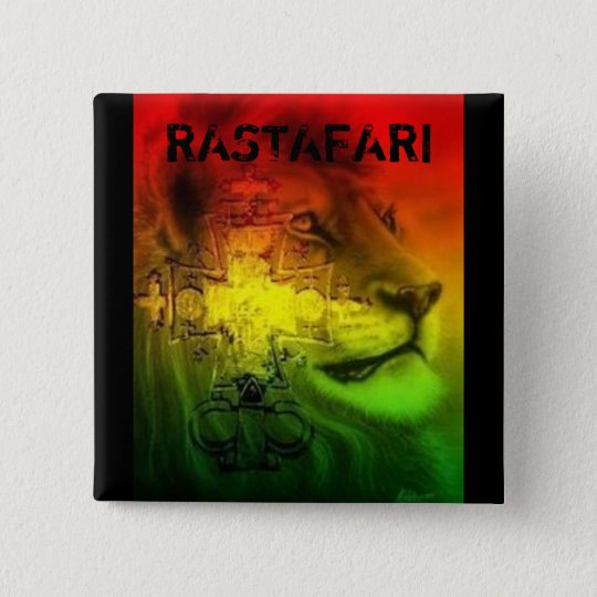 Rastafari Badge Pinback Button