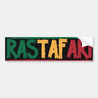 Rastafari Etiqueta De Parachoque