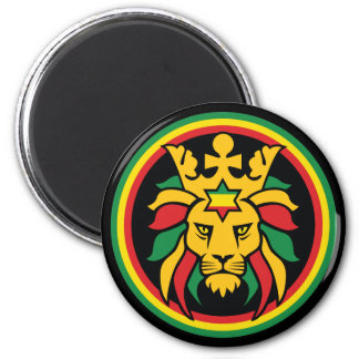 Rastafari Dreadlocks Lion of Judah Magnet