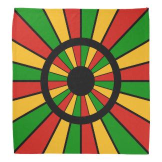 RASTAFARI FLAG BUTTON RAYS + your sign or monogram Bandana
