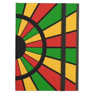 RASTAFARI FLAG BUTTON RAYS + your sign or monogram iPad Air Covers