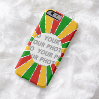 RASTAFARI FLAG BUTTON RAYS + your sign or photo Barely There iPhone 6 Case