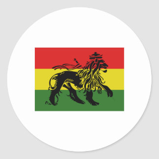 Rastafari Flag Classic Round Sticker