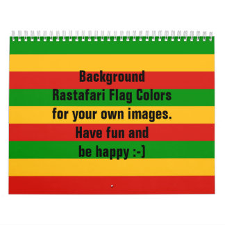 RASTAFARI FLAG COLORS CALENDAR for your own images