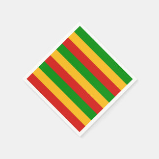 RASTAFARI FLAG COLORS + your ideas Napkin