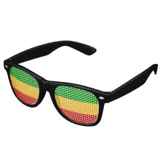 RASTAFARI FLAG COLORS + your ideas Retro Sunglasses