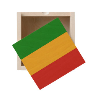 RASTAFARI FLAG COLORS + your ideas Wooden Keepsake Box
