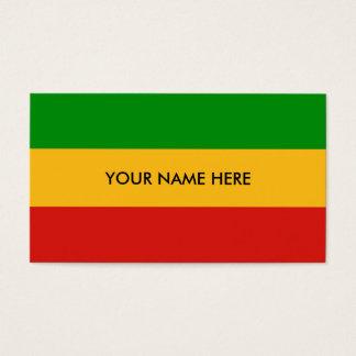 RASTAFARI FLAG COLORS + your text Business Card