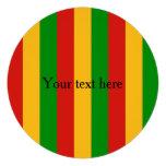 RASTAFARI FLAG COLORS + your text Personalized Invitations