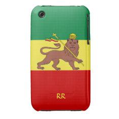 Rastafari Flag Of Ethiopia Reggae Iphone3 Casemate Case-mate Iphone 3 Case at Zazzle